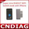 Super Mini Elm327 WiFi met Switch Work voor iPhone OBD-II OBD Can Code Reader Tool