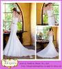 Späteste vorbildliche Fußboden-Längen-Nixe Ein-Schulter Spitze-reizvolles Braut-Kleid (WD20)