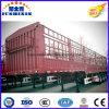 半中国3の車軸40FTユーティリティ塀の棒の貨物トレーラー