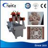 Acrilico di cuoio del PVC del MDF che fa pubblicità alla mini macchina di scultura di legno di CNC