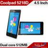 본래 Coolpad 5218d 4.5  이중 코어 1.0GHz 256MB 렘 512MB ROM 이중 SIM 카드 3G 인조 인간 전화