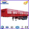 Tri-as de Aanhangwagen van het Vee van het Vee van de Aanhangwagen van de Vrachtwagen van het Vervoer van de Omheining van 50 Ton