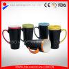 16 Oz dos tonos de color de cerámica vidriada taza de tiza de la pizarra