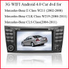 GPS를 가진 벤츠 W211, Bluetooth 의 핸들 통제, 뒷 전망 사진기 (AD9303)를 위한 3G WiFi 인조 인간 4.0 차 DVD GPS