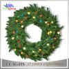 Handgemachter Feiertags-im Freienweihnachtsereigniswreath-Dekoration-Licht