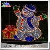 Lumière de corde des fils DEL de motif de bonhomme de neige de Noël de décoration de jardin 2D