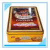 Caja rectangular de la lata para las galletas