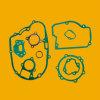 OEM Motorbike Gasket, Yb50를 위한 Motorcycle Gasket