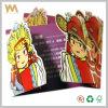 Convite engraçado do casamento da dobra do bolso do projeto de cartão dos desenhos animados