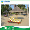 일요일 옥외 Lounger, 나무로 되는 Sunbed 의 해변 침대 (FY-019CB)