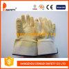 Ddsafety 2017 gants fonctionnants de pli jaune de latex avec du coton ou la doublure du Jersey