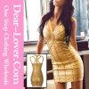 2016 Sexy Glod коктейль порванный жгут платья