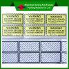 Etiqueta engomada amonestadora adhesiva de papel antifalsificación destructible