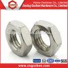 Noix mince Hex de l'acier inoxydable BS916 1/4 de GS