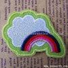 Мода пользовательские моды Rainbow вышивка исправления для украшения одежды