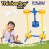 Do miúdo plástico da instrução de DIY conetor plástico do edifício do brinquedo