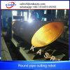 Kohlenstoffstahl CNC-Gas-Scherblock, abschrägendes Plasma, Rohr-Ausschnitt-Maschine für grosses Rohr-Gewebe