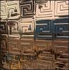 Recubrimiento de paredes estereoscópico del acero inoxidable para la decoración del hotel KTV (113)