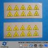 De semi Glanzende Bestand Duidelijke Zelfklevende Gele Elektrische Etiketten van het Water