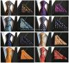 Elegante de seda de poliéster Gravata Mens Tie configurado com Hanky para Dom