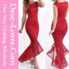 Mulheres Casual Red Evening Prom Cocktail Party Dresses