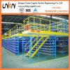 Almacén de estanterías ahorrar espacio Hierro Storag Entresuelo