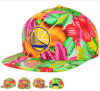 Flower colorido Style Design Flat Snapback Cap com Embroidery Logo