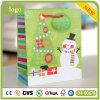 Bolsa de papel, bolsa de papel del muñeco de nieve de la Navidad Ho Ho Ho, bolsa de papel del regalo
