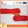 Guante resistente cortado látex largo rojo de Ddsafety 2017