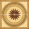 Azulejos de suelo de oro de la porcelana del rompecabezas usando en hotel