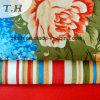 Het nylon Tricot breit Stof met de Bloem van de Druk