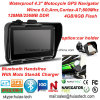 Etanche 4.3 Voiture Vélo Motocyle Navigation GPS avec Wince 6.0 Système GPS Navigator, Bluetooth mains libres, IP67, le suivi GPS Sat Nav, précharge carte GPS