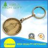 中国製カスタム丸型の金属は銀によってめっきされたダイヤモンドのロゴBitcoin Keychainを型抜きした