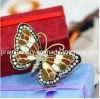 La primavera de la moda de joyería fina /2013 chapado en aleación de zinc con oro Rhinestone Mariposa Esmalte Broches Broches para la mujer encantadora Amiga de regalo (PBr-029)