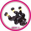 Extremidades grossas indianas da peruca da coleção de Janet do cabelo de 100% Remy