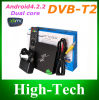 2014 T2 Dual-Core Android Google TV Box de DVB-T2 Android 4.2.2 HDMI WiFi TV Receicer 3D 3G sistema de pesos americano Smart TV Box DVB