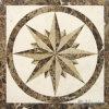 Waterjet het Marmeren Vierkante Medaillon van het Mozaïek