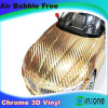 Стальных хромированных 3D из углеродного волокна виниловые наклейки, автомобиль на наклейке ассорти для укладки волос с воздуха без пузырьков воздуха 1,52*30m