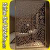 Tela de divisão de sala decorativa em aço inoxidável com corte a laser