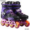 ローラーPatins人および女性(DA1005)のための4つの車輪のSlalonのインラインスケートの靴