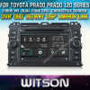 Witson Car DVD para Toyota Prado 120 Series Car DVD GPS 1080P DSP Capactive Screen WiFi 3G Front DVR Camera