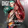 Impression numérique tricotée en soie de mode (X1016)