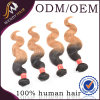 Peruvian Human Hair Ombre Body Wave Hair의 4 Pieces