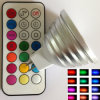 Isunroad 2015 MR16 AC/DC 12V Flash LED Spotlight Lamp, RGB LED Bulb mit 21 Keys Remote Control, 2 Million Colors für Home Bar Party Christmas Lighting