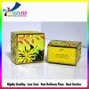 Boîte à cartes pliée de estampillage chaude de papier d'imprimerie de fleur pour le produit de beauté