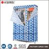 Dormitorio ropa estante de almacenamiento portátil Armario metálico regulable diseño de rack