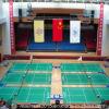 O Badminton ostenta o revestimento/esteiras plásticas do revestimento