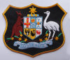 Insignes faits sur commande tissés de logo de broderie d'insigne de pièce rapportée (GZHY-PATCH-014)