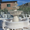 Fonte de água de pedra de mármore natural esculpida no jardim (SY-F106)