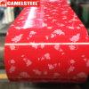Farbe beschichtete Stahl Umwickeln-PPGI Stahlring-Blumen-Muster-Entwurf
